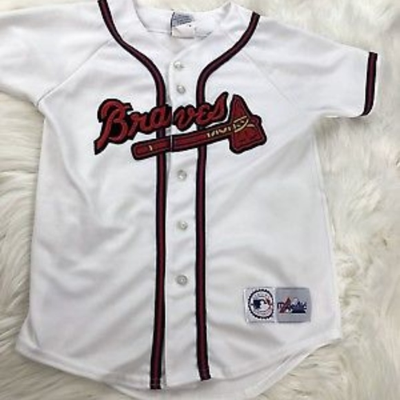 newest eecc7 1abce Authentic Atlanta Braves Jersey Youth Sz M Boys